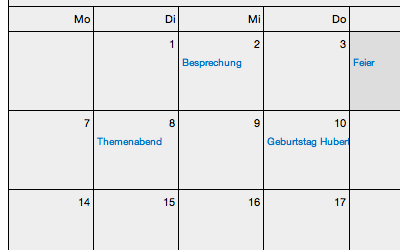 Kalender-Ansicht